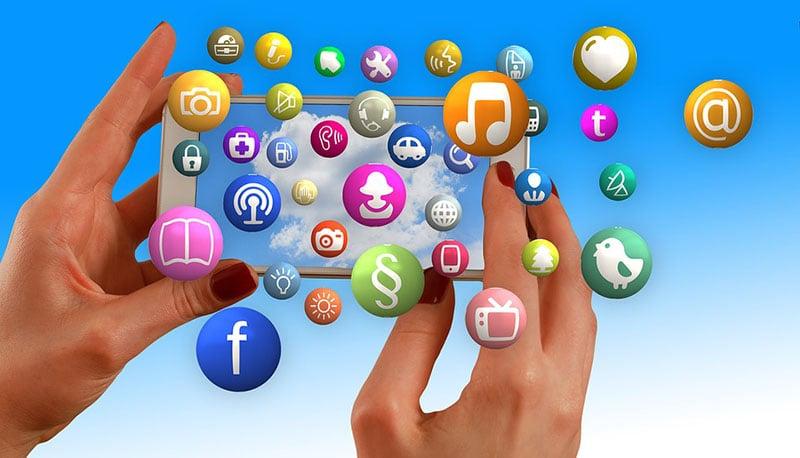 Photo: Social platforms icons