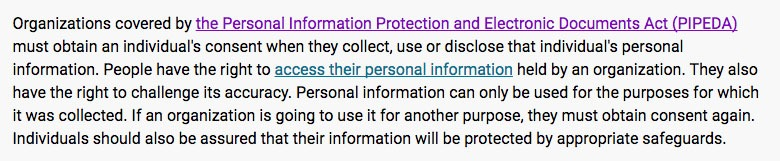 Privacy Commissioner of Canada: PIPEDA in brief intro