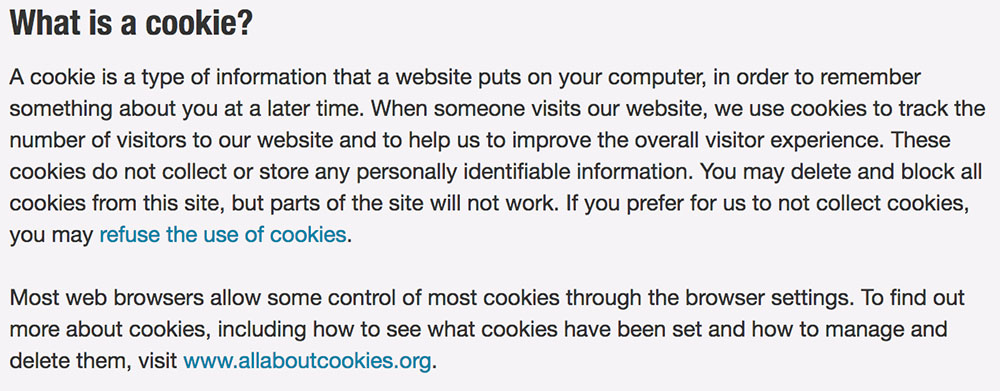 The UK University of Law: What is a Cookie clause in Privacy Policy
