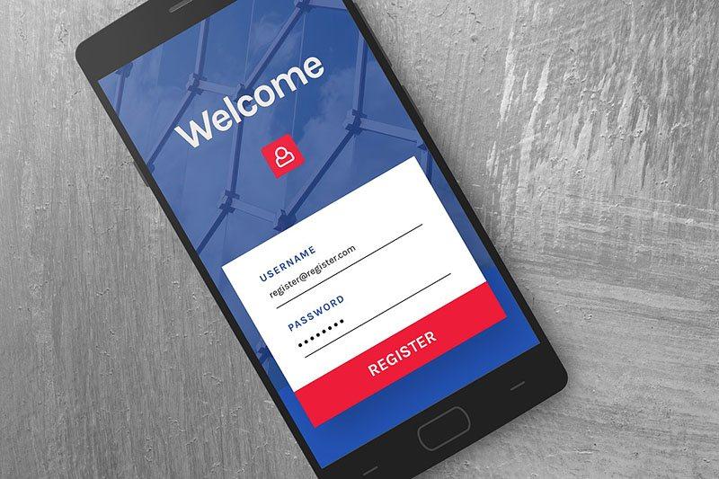 Generic app login screen