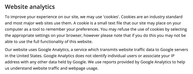 Using Google Analytics? Better Update that Privacy Policy ...