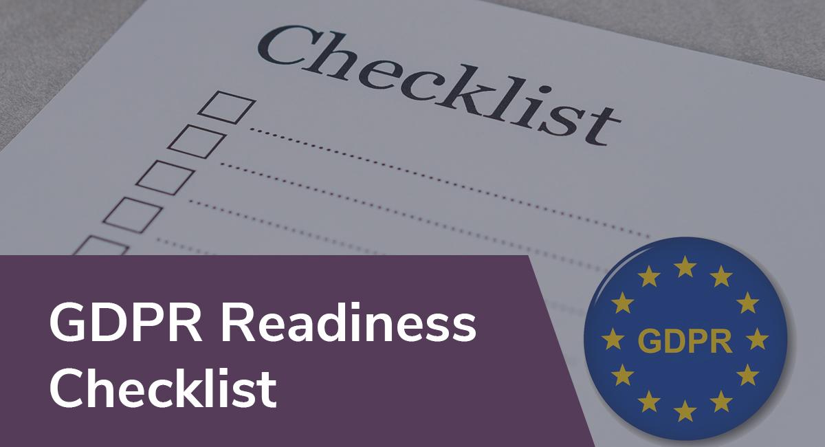 GDPR Readiness Checklist Privacy Policies