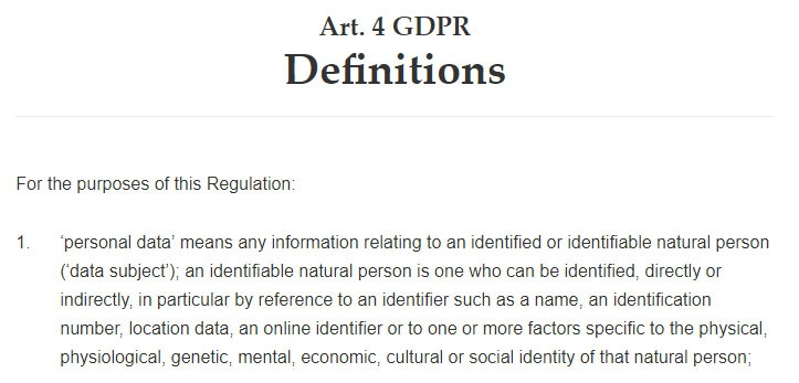"Intersoft Consulting: GDPR Article 4: Definition of ""personal data"""