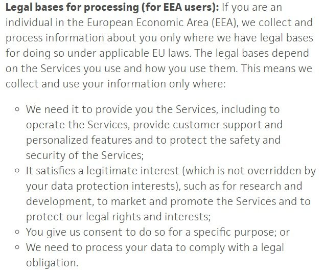 Gdpr Privacy Policy Template Privacypolicies