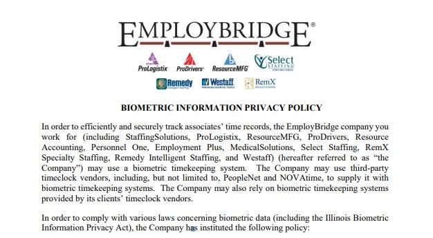 Biometrics Laws and Privacy Policies - PrivacyPolicies com