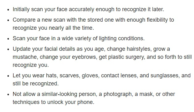 Macworld: iPhone X Face ID list and summary of features