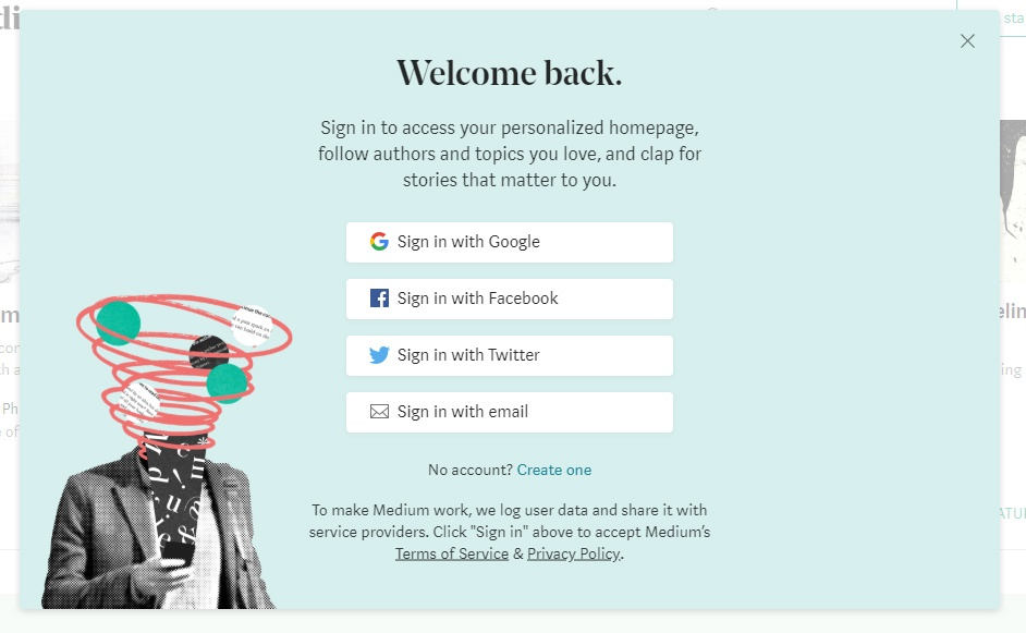 Medium sign in with social media pageMedium sign in with social media pageMedium sign in with social media pageMedium sign in with social media page