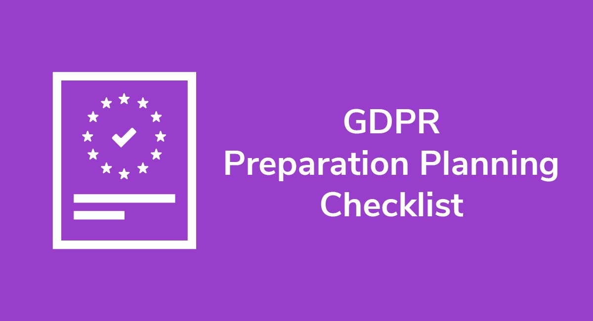 GDPR Preparation Planning Checklist