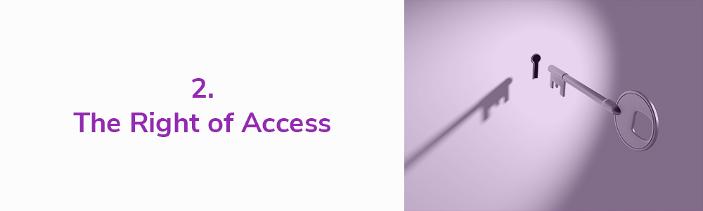 2. The Right of Access