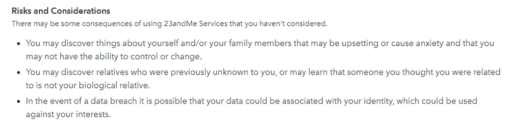 23andMe Privacy Policy: Risks and Considerations clause