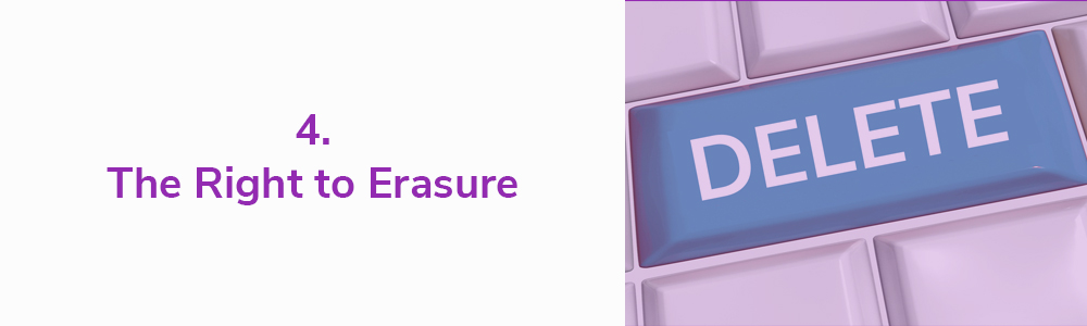 4. The Right to Erasure