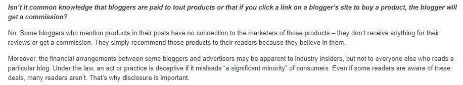 """FTC Endorsement Guides - What People are Asking: The """"significant minority"""" standard with affiliate marketing disclosures section"""