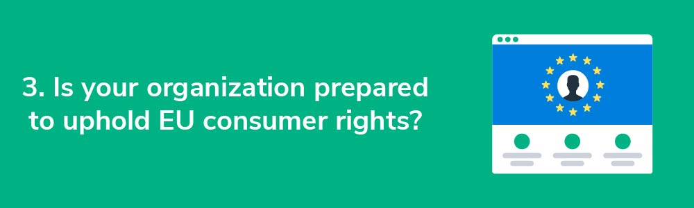 3. Is your organization prepared to uphold EU consumer rights?