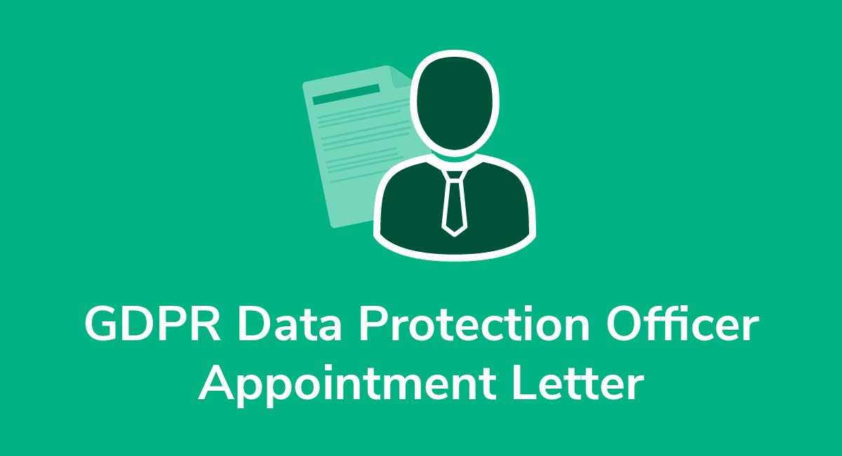 GDPR Data Protection Officer Appointment Letter