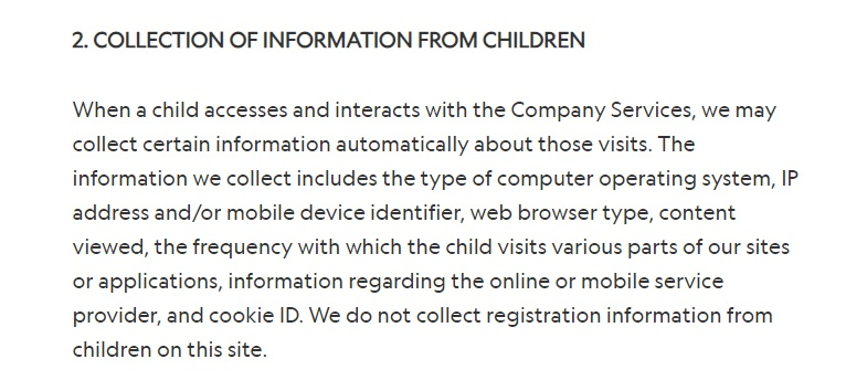 National Geographic Kids Privacy Policy: Collection of Information From Children
