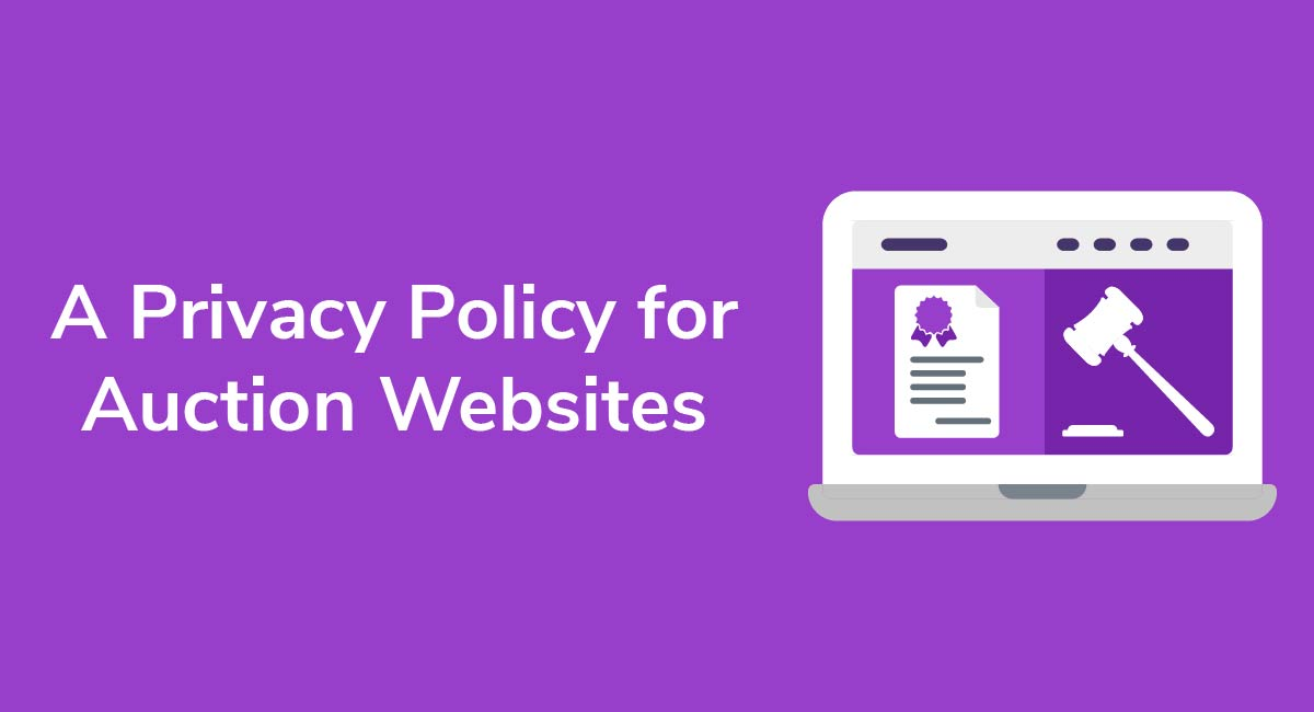 A Privacy Policy for Auction Websites
