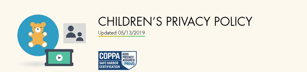 Header of Walt Disney Children's Privacy Policy