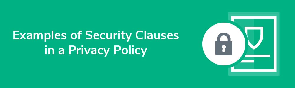 Examples of Security Clauses in a Privacy Policy