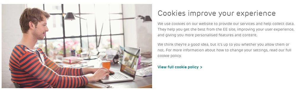 EE UK Cookies Policy introduction page