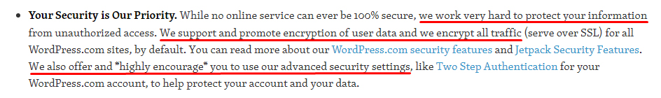 Automattic and the GDPR: Security clause