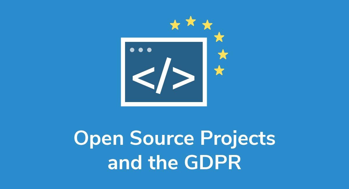 Open Source Projects and the GDPR