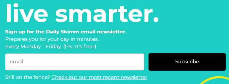 TheSkimm email sign-up form