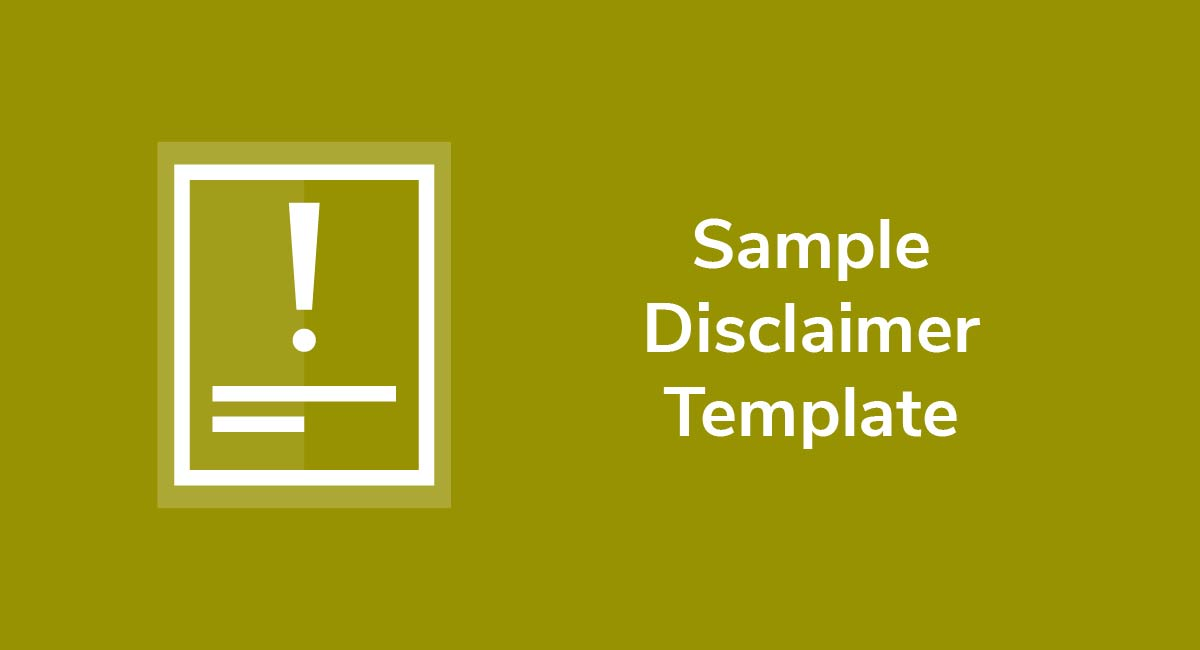Sample Disclaimer Template