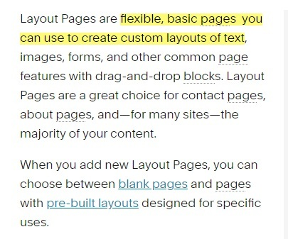 Squarespace Layout Pages summary