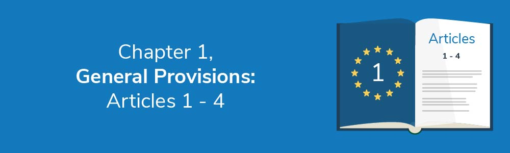 Chapter 1 - General Provisions: Articles 1 - 4