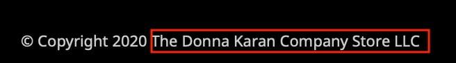 DKNY Copyright Notice