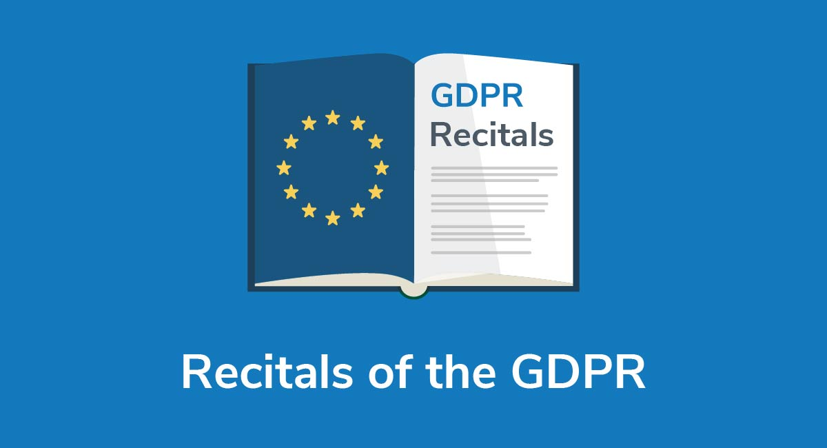 Recitals of the GDPR