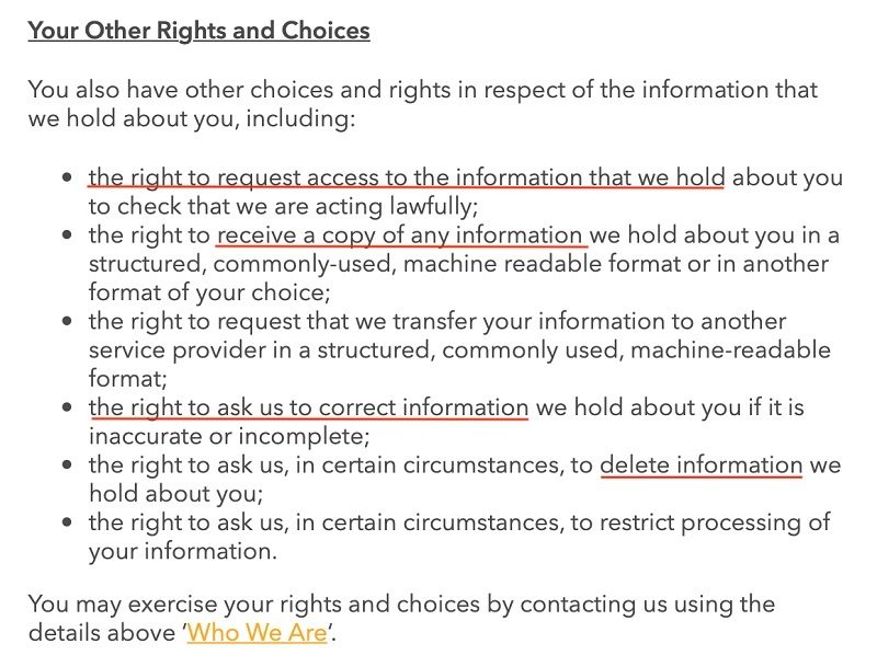 National Geographic Kids Privacy Policy: Your Other Rights and Choices clause
