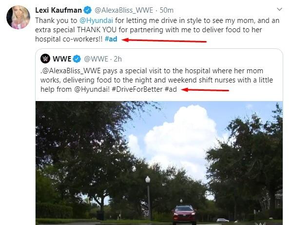 Twitter: Lexi Kaufman WWE ad post