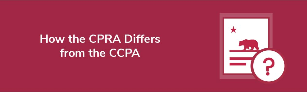 How the CPRA Differs from the CCPA