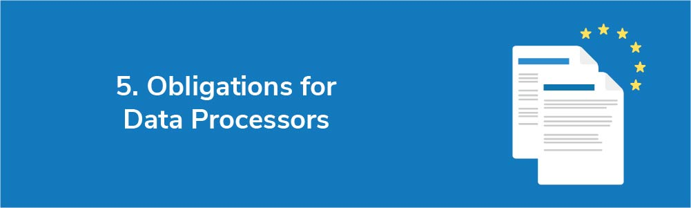 5. Obligations for Data Processors