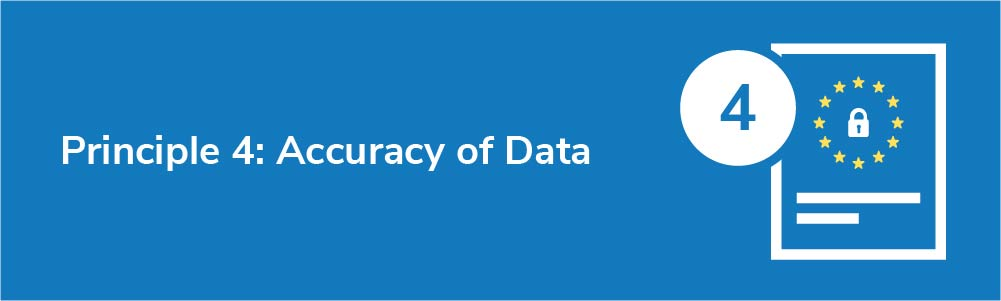 Principle 4: Accuracy of Data