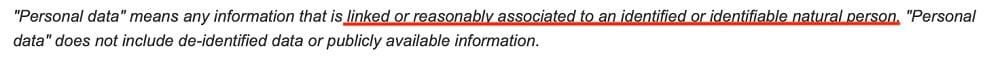 Virginia Legislative Information System: CDPA - Definition of personal data