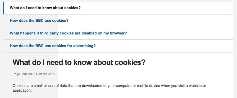 Configuración de las cookies y navegador de la BBC: Qué debo saber acerca de las cookies