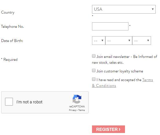 Registratieformulier voor een account van Collectif