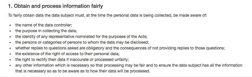 Datenschutzleitlinie für Verantwortliche: Erhebung und Verarbeitung von Daten nach Treu und Glauben - DSGVO