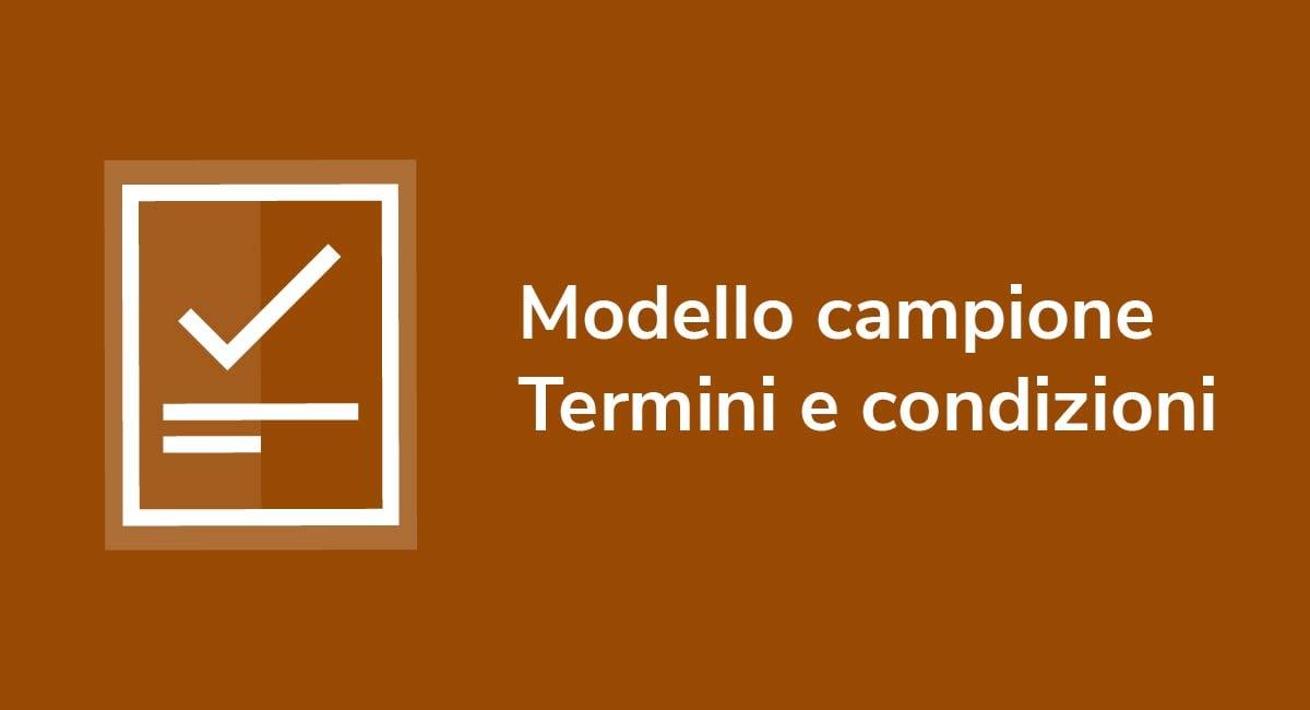 Modello campione Termini e condizioni