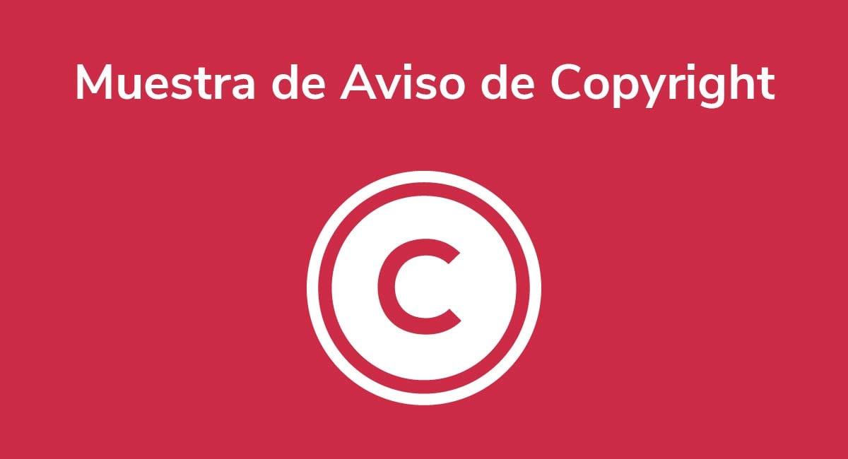 Muestra de Aviso de Copyright
