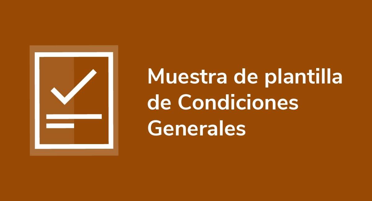 Muestra de plantilla de Condiciones Generales
