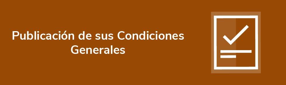 Publicación de sus Condiciones Generales