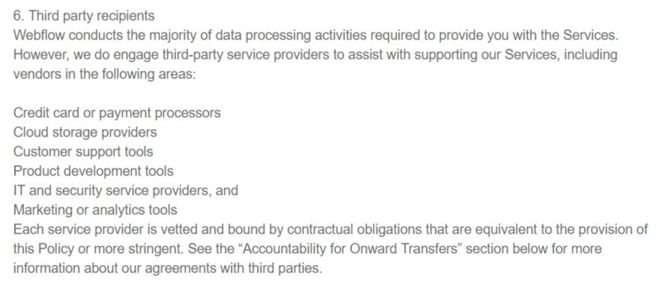 SendPilot Datenschutzrichtlinie: Drittanbieter-Empfänger-Klausel