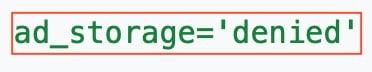 Google Consent Mode Ad Storage tag screenshot