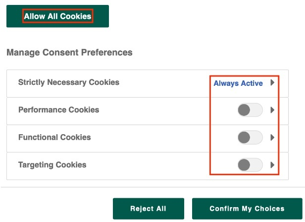 Holland and Barrett cookie consent notice